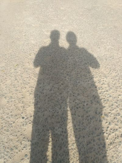 Enjoy The New Normal Togetherness Two People Sunlight Outdoors