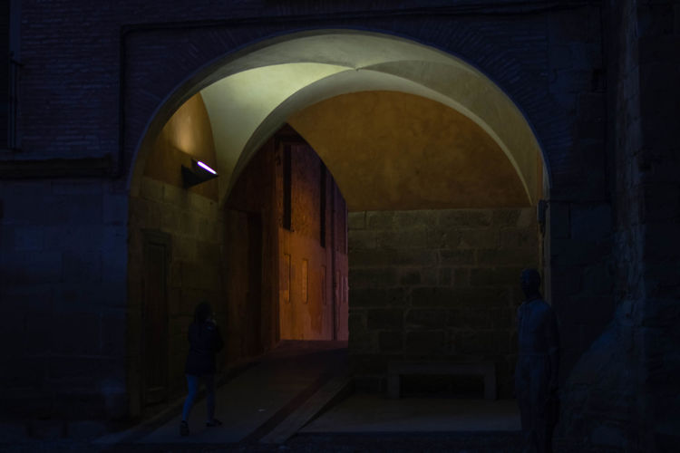 Olite Navarra EyeEmNewHere EyeEm Selects The Week On EyeEm Arch Indoors  Architecture Adult People Adults Only Day