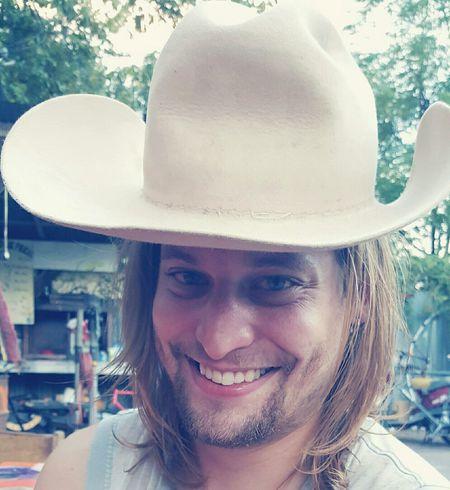 Pedicab Driver Portrait Smile Smiling Handsome Cowboy Hat