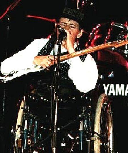 Disabled No Legs Disabled Guitarist. Wheelchair Guitarist Martin Legs