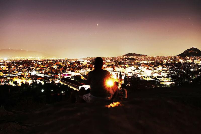 City City Life Dusk Light Mountains Night Outdoors Silhouette Sky Sun Sunset View