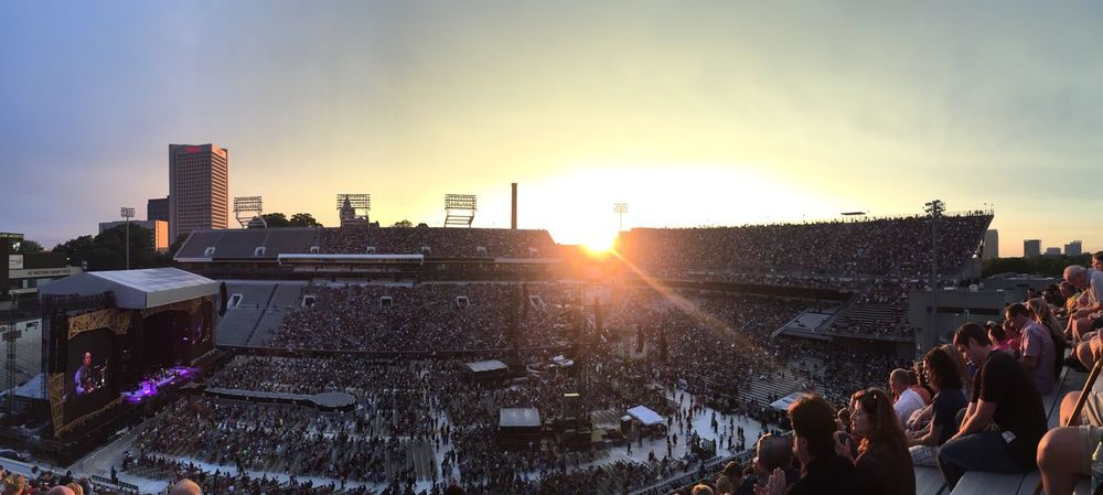 Beautiful sunset for The Stones! 🌇😎🎸🎶 The Rolling Stones Concert Urban Lifestyle