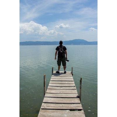 One of my (small) dreams ever since many years ago was to take a photo at an empty small pier in another country with a beautiful view. Finally got it. Thanks @avega360 for the awesome photo. Mexico Mexico2014 Jalisco Isladelosalacranes lakechapala chapala