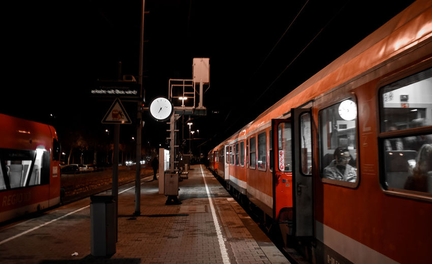 It's About The Journey Rail Transportation Public Transportation Train Transportation Mode Of Transportation Train - Vehicle Illuminated Passenger Train Railroad Station Architecture Railroad Station Platform Travel Night Railroad Track No People Track Land Vehicle Outdoors City Subway Train Railroad Car 2018 In One Photograph Streetwise Photography