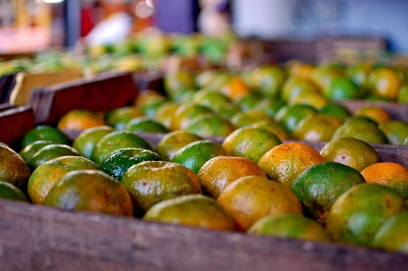 Orange Tangerines Fruit Food And Drink Food Freshness Healthy Eating Travel Destinations Market Business Finance And Industry Travel Large Group Of Objects Indoors  No People Day Close-up Multi Colored Supermarket Food Stories