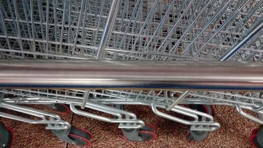 Supermarket Wheels Carts Silver  Steel Material Steel Hello World No Filters Or Effects Urban Geometry