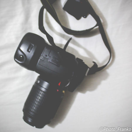 Camera Black Color Close-up Day High Angle View Indoors  No People Shadow Still Life Table Technology