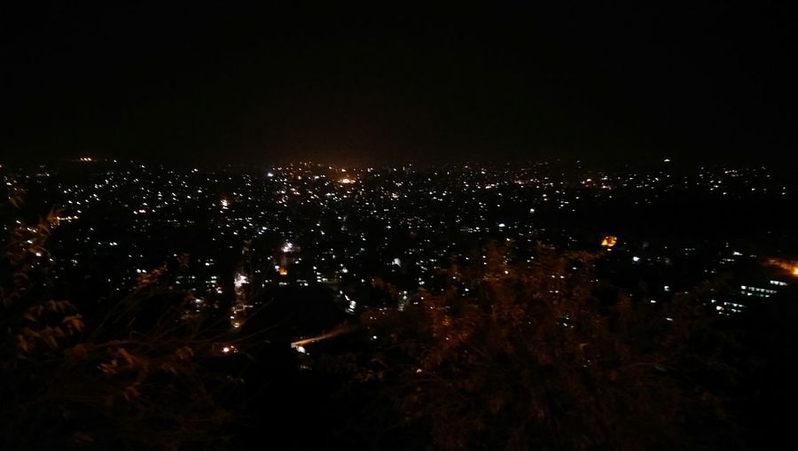 View of kathmandu city from swyambhunath temple at night!! Citylights