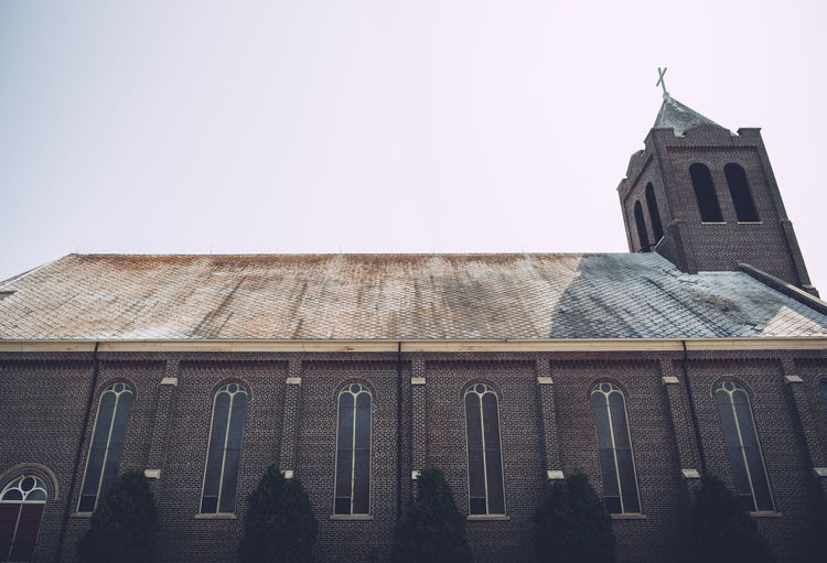 Church Architecture Belief Building Building Exterior Built Structure Church Architecture Clear Sky Day Low Angle View People Place Of Worship Religion Sky Spirituality Window