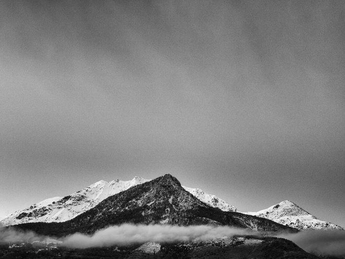 Scenic Shot Of Mountain Range Against The Sky