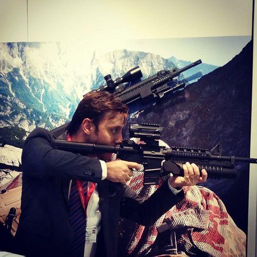 Rifle#automatic#acr#weapon#agoc#black#exhibition # doha # qatar #milipole#2014 #grename#launcher