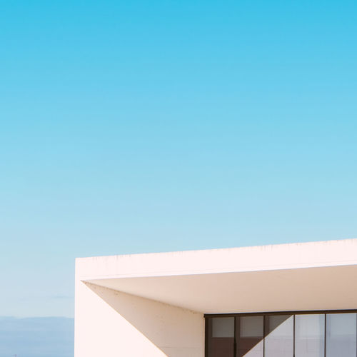 Modern architecture against clear sky