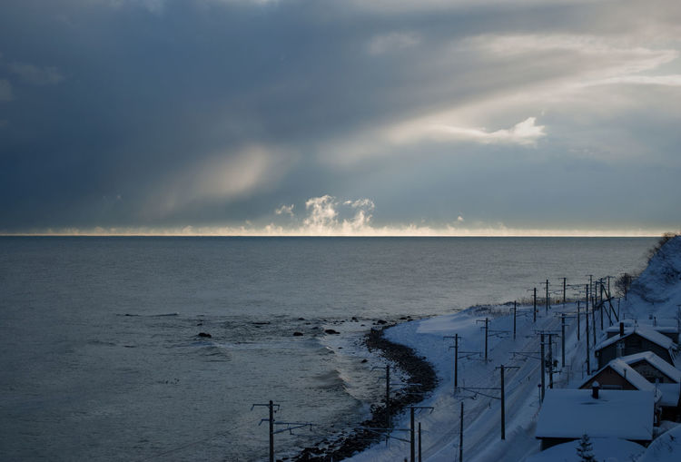 寒い朝にけあらし Lost In The Landscape Steam Winter Beauty In Nature Cloud - Sky Cold Temperature Day Horizon Over Water Nature No People Outdoors Scenics Sea Sky Waterin Otaru,Hokkaido,Japan 冬 小樽 毛嵐 気嵐 Shades Of Winter