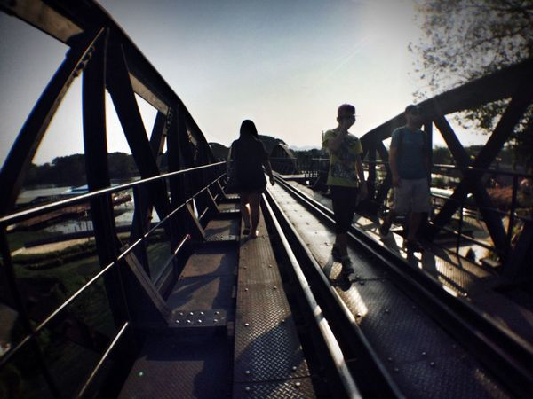 Hello World Traveling Relaxing View Railway Bridge Sunset Travel Thailand Hi! Enjoying Life
