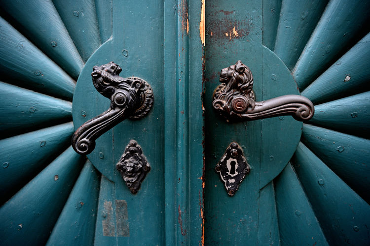 Full frame shot of closed doors