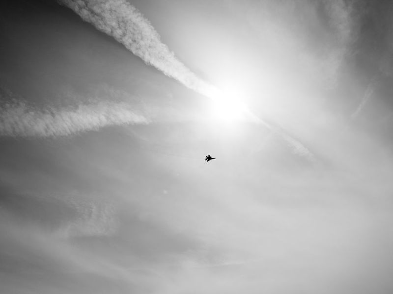 Airplane Beauty In Nature Monochrome Photography Cloud Cloud - Sky Cloudy Day Flying Idyllic Low Angle View Mid-air Mig-29 MiG29 Military Airplane Nature No People Outdoors Scenics Sky Sun Sunbeam Tranquil Scene Tranquility Weather Black And White