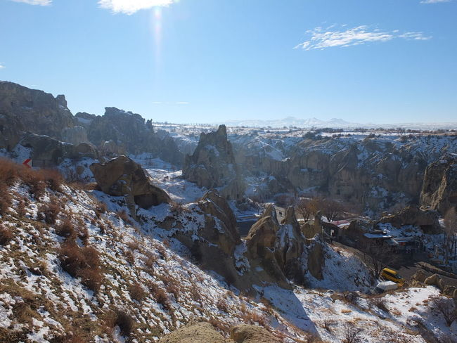 Kapadokya,Göreme,Turkey Beauty In Nature Cold Temperature Day Landscape Mountain Nature No People Outdoors Physical Geography Rock - Object Scenics Sky Sunlight Tranquil Scene Tranquility Urgup Goreme Uchisar ürgüpgöreme EyeEm Ready   EyeEm Ready   EyeEm Ready