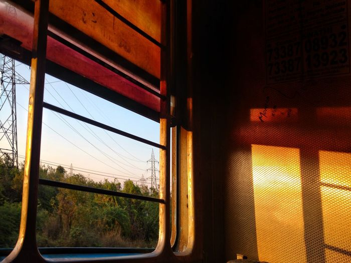 Train Rides Window Golden Hour While The Sun Sets Travelphotography