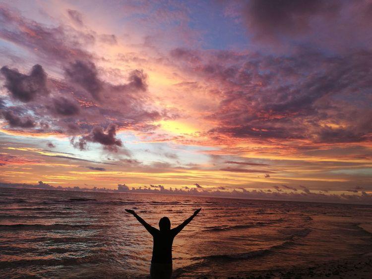 Sunset Sea Nature Beautiful Mytravel Seaandsun Philippines