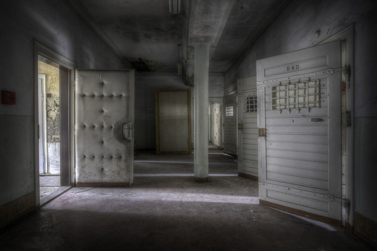 Abandoned Places Decay HDR Urban Exploration Abandoned Abandoned Buildings Absence Building Corridor Decayed Beauty Decaying Door Empty Hdrphotography Indoors  No People Open Prison Prison Cell Urbex Urbex_supreme Urbexexplorer Urbexphotography