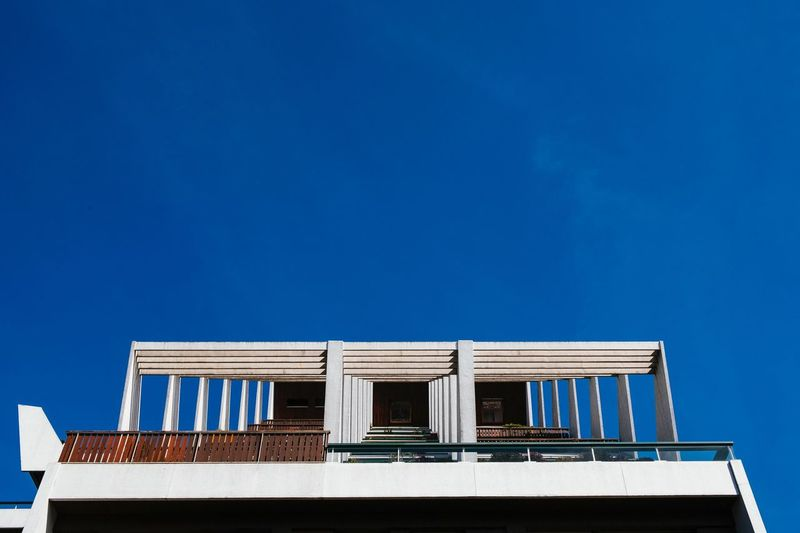 Architecture, France Blue Architecture Built Structure Sky Building Exterior Clear Sky Low Angle View