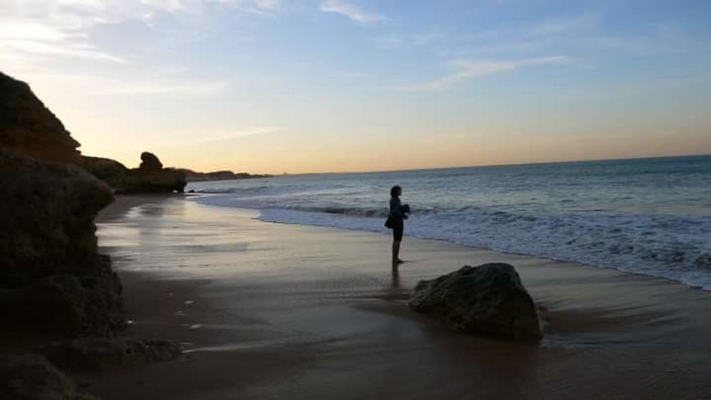 Algarve BeachSunrise Summermemories Serenity Serenebeauty Calm Sea Emptybeach Summer Memories 🌄 Travelling Narure_collection Eyeemnaturelover Scenic View Travellerslife Travelerslifestyle PeopleOfTheOceans