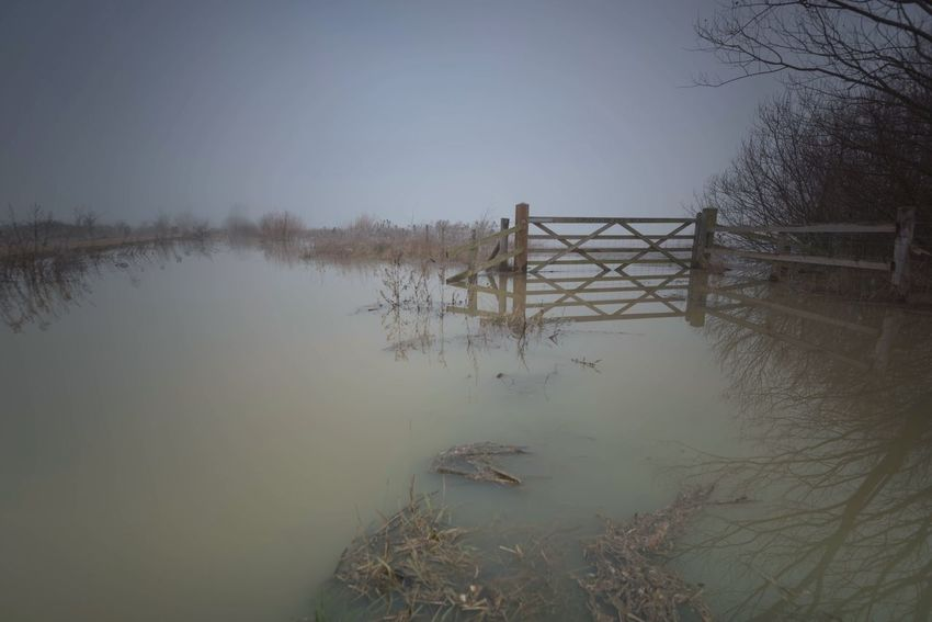 Flood Gate II Hidden Gems  Flood Gate Landscape Water Reflections Waterscape Water Reflection Showcase July Fine Art Photography Northamptonshire Irthlingborough Flooded Flooding Floods Winter Waterfront Nature Photography Color Palette