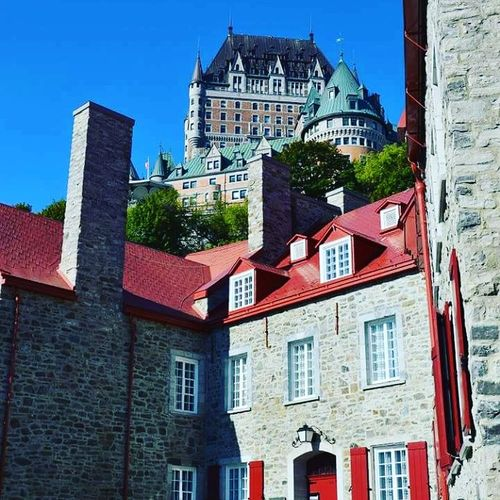 Architecture City Bluesky Castle Quebec City Quebec, Canada Quebecjetaime Frenchcanada Lovecanada Canada Nikonphotography Nikon