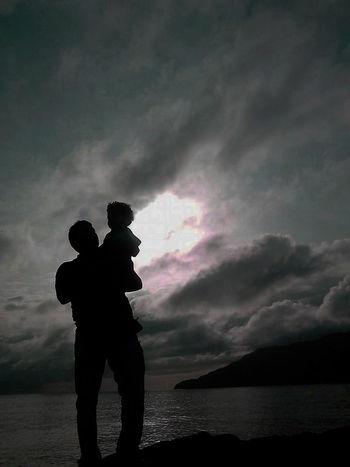 Azores Islands Best Thing Ever Dad And Son Family Povoação Sao Miguel- Azores Sky Sky And Clouds Sun Sunset