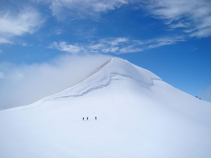 Scenic View Of Mountain Peak Against Sky
