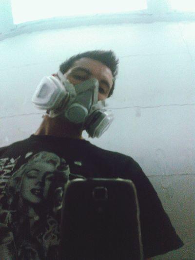 Reflection Gas Masks Marylin Monroe