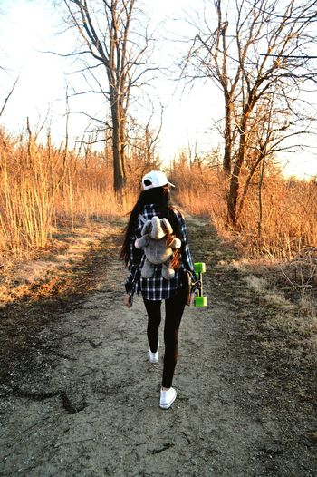 Elephant Backpack Walking Cool Day Trail Family Girl Living Chicago Suburbs