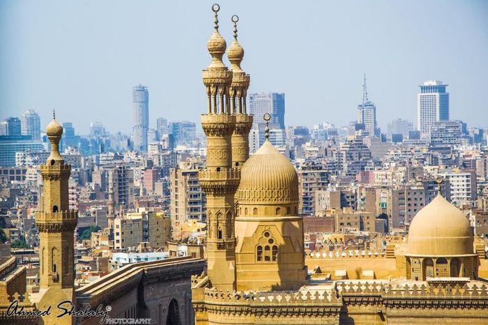 Cairo Egypt Islamic Islamic Architecture Islamicart Minaret Mosque Minarets Refaay Mosque Sultan Hassan Mosque & Madrasa