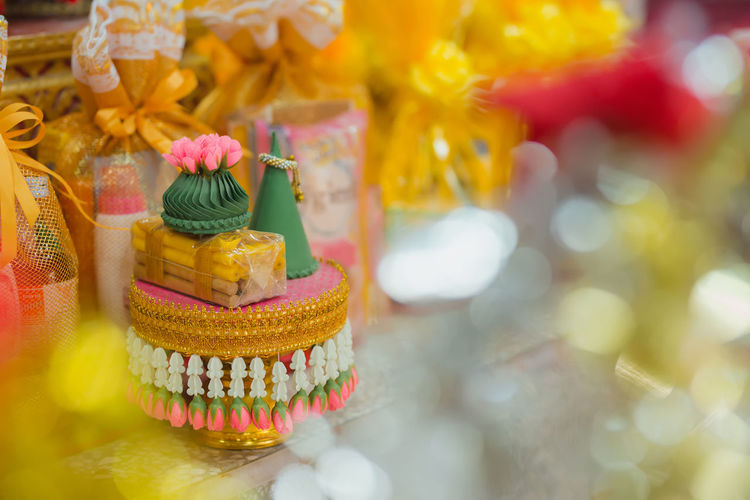 Colors Ordination Pagoda Thai Thailand Bokeh Bokeh Background Celebration Close-up Colorful Ordination Ceremony Pagoda Temple Rice Offering Thai Culture