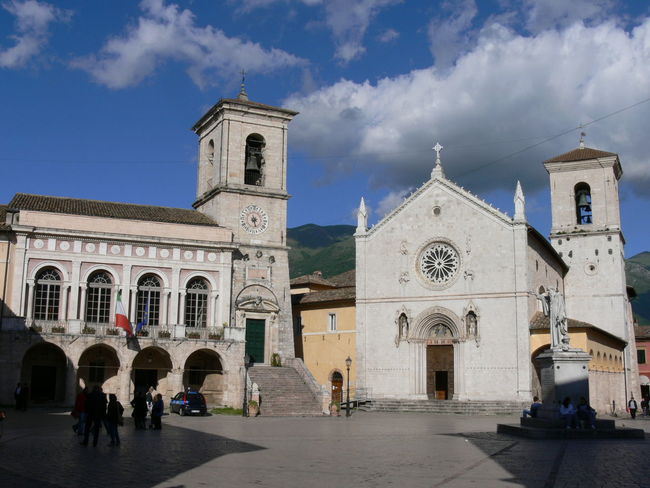 Norcia before the earthquake - so sad.... Architecture History Italia Italy Norcia Religion Sky Travel Destinations Umbria Past Time