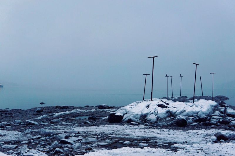 Misty Water Sea Tranquility Tranquil Scene Nature Cold Temperature No People Outdoors Snow Horizon Over Water Beauty In Nature Scenics Sky Winter Day Mist Misty Misty Morning Misty Waters Mistywater First Eyeem Photo