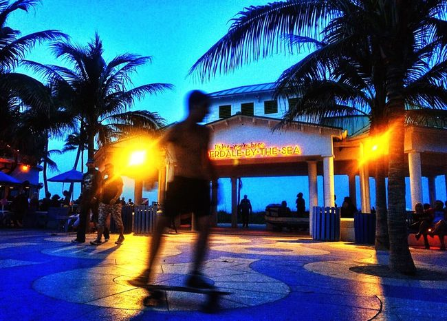 Night scene from Lauderdale-By-The-Sea, Florida. Skateboarding Check This Out Nightphotography Streetphotography