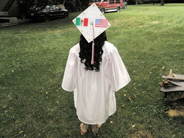 I am the first in my family to graduate high school, they are so proud of me :') Feel The Journey Afternoon Caught The Moment ADayToRemember ADayInMyShoes Highschool Highschoolsenior Highschoolgraduation HighSchoolGradDay MexicanAmerican Mexicanpride