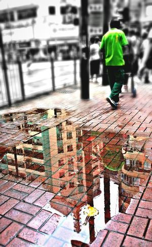 Street Photography Urban Reflections In The Water Mobile Photography Abstractarchitecture