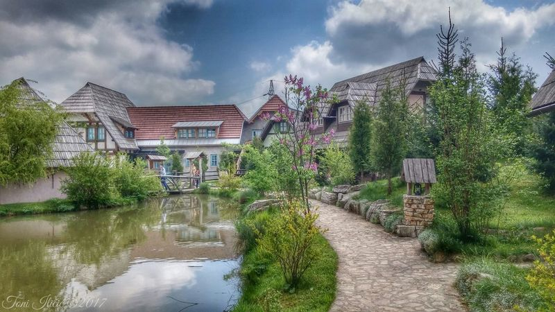 Ethno village decorated in medieval style Etno Village Rustic Architecture Bosnian  Architecturelovers Fairytale  River Magic Houses Photooftheday Androidography Green Spring Beautiful Vitez F4F OvoJeBiH Eco Photography Photo Capture Nature View Building First Eyeem Photo