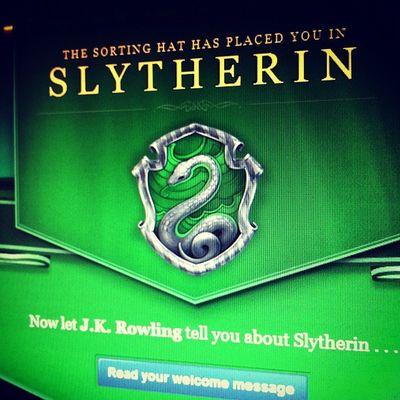 Ich bin ein Slytherin und das war mir irgendwie klar.
