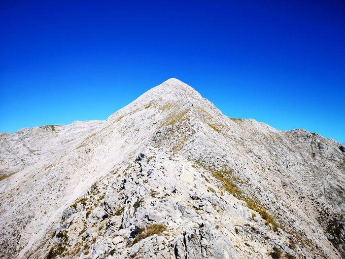 Clear Sky Mountain Blue Sky Landscape Mountain Peak Mountain Ridge Mountain Range Rocky Mountains Rock Formation
