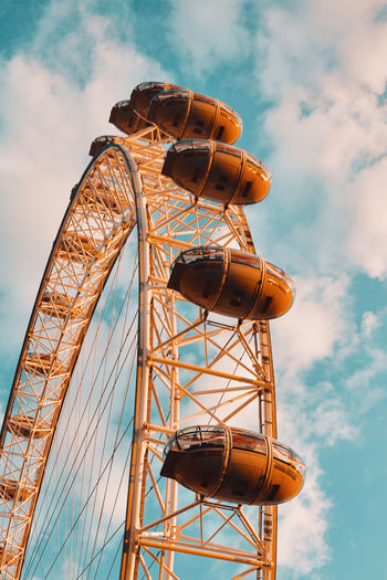Low angle view of the millennium wheel