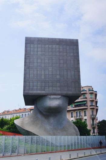 Nice France Library Human Head Modern Architecture Books