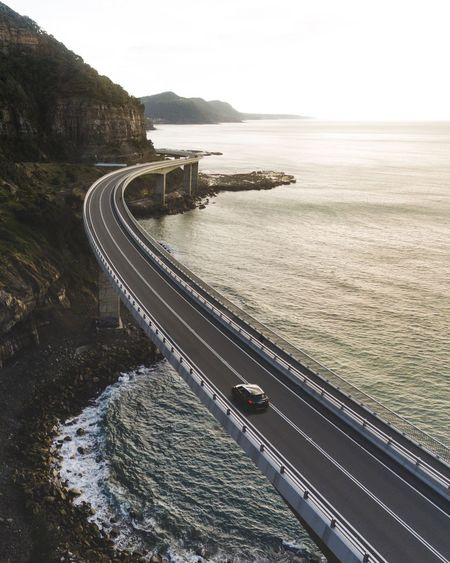 A Bird's Eye View Drone  Bridge Sea Architecture Ocean Road Highway Road Trip The Drive The Architect - 2017 EyeEm Awards