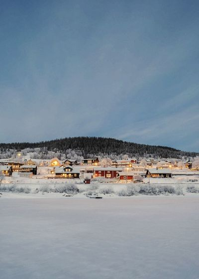 winter lake view Montains    Sweden Winter Village Fairytale  EyeEm Selects Outdoors Business Finance And Industry No People Day Sky Sea Building Exterior Harbor Beach Nature Water Salt - Mineral