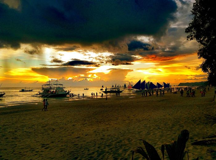 Creative Light And Shadow sunset Color Of The Island Sand Beautiful Beach
