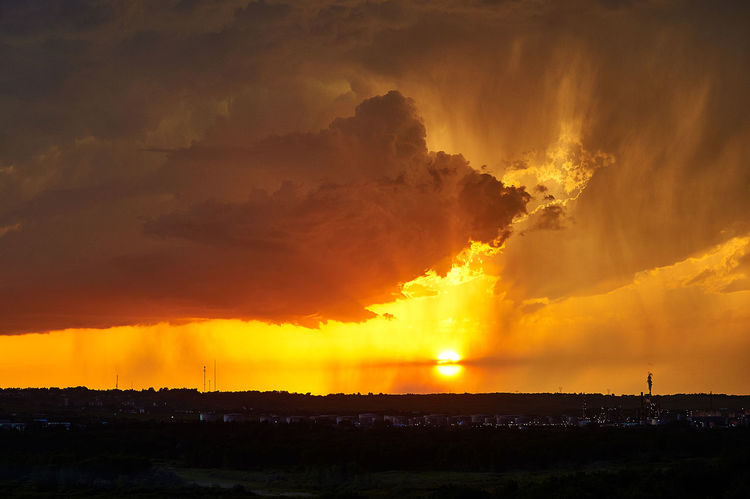 Fire in the Sky Clouds Clouds And Sky Factory No People Orange Color Outdoors Power In Nature Sunset