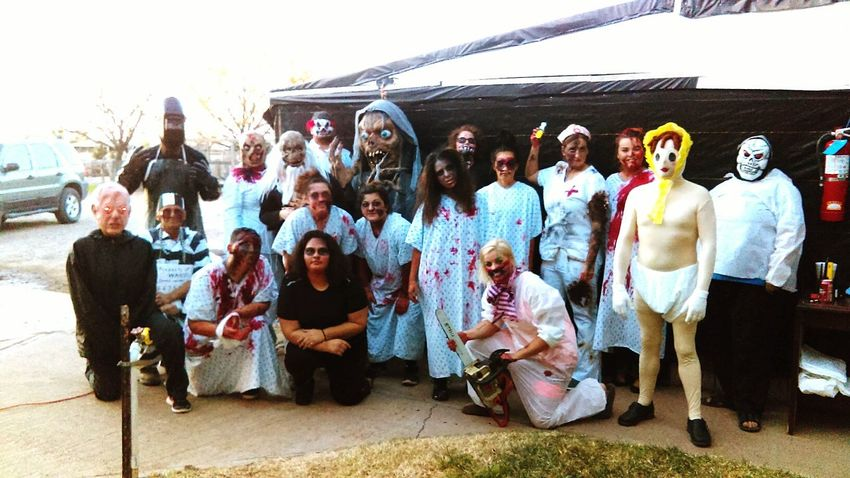 Large Group Of People People Performance Scare Fright Night Haunted House Asylum Scary Fun October Halloween Hospital Crazy Crazy Moments Fun Memories Patients Murder Monster Prisoner BLOODY Gore Doctors Nurse Big Baby