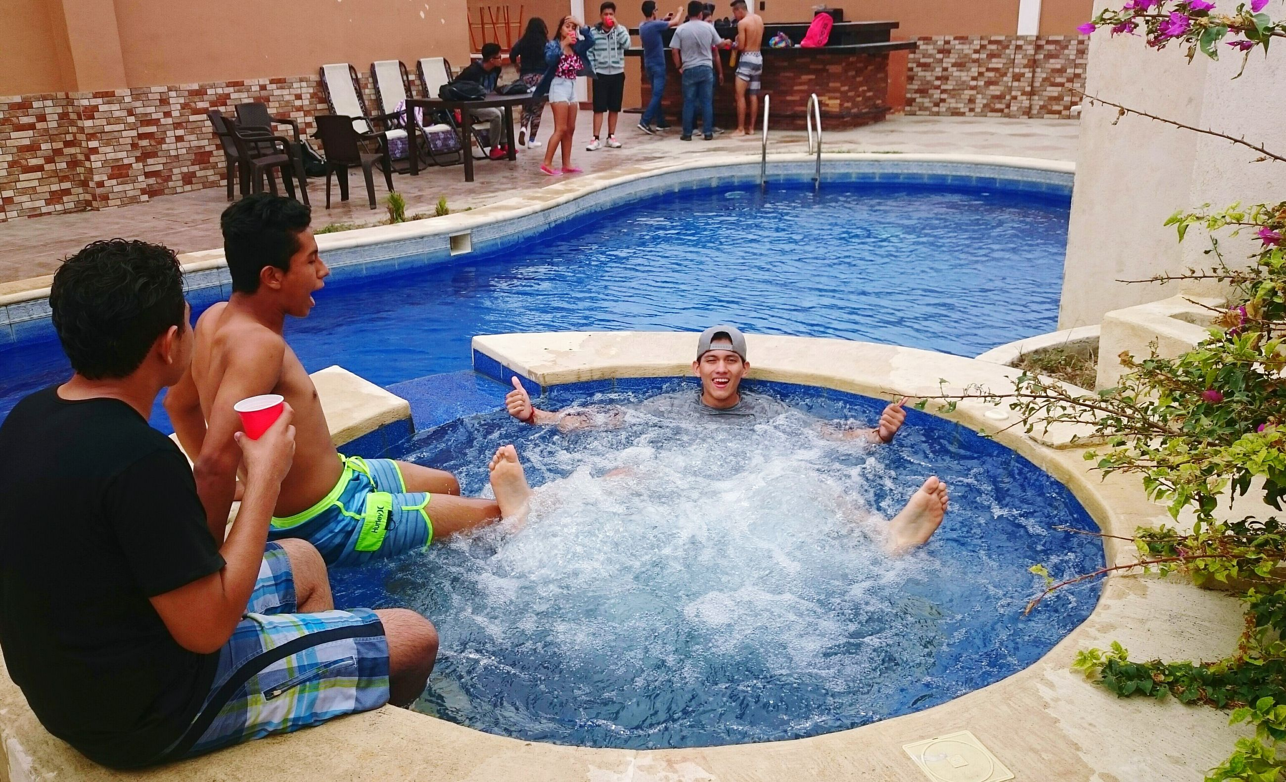 water, swimming pool, real people, leisure activity, lifestyles, enjoyment, men, boys, togetherness, day, outdoors, people, adult